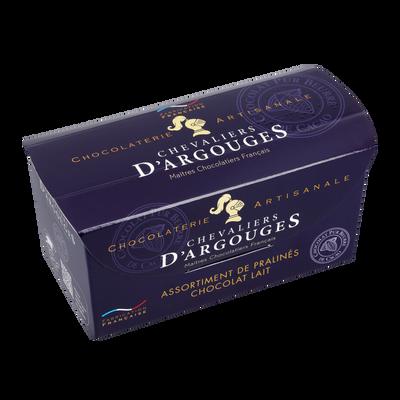 Assortiment lait premium LES CHEVALIERS D'ARGOUGES, ballotin de 185g