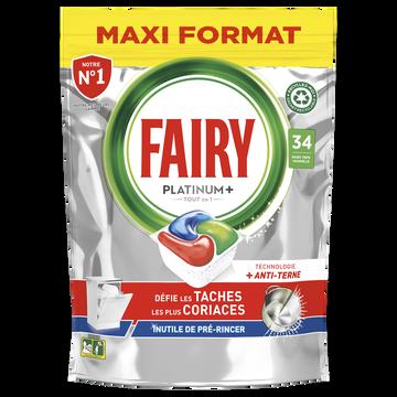 Fairy Nettoyant Lave-vaisselle Platinum+ Original Taille M Fairy X34capsules