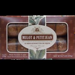 Mini nonnettes au chocolat MULOT ET PETITJEAN, boite de 10