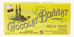 CHOCOLAT NOIR GRAND CRU D'EXCEPTION SELVA MAYA 100G - BONNAT CHOCOLATIER
