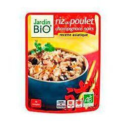Riz au poulet et champignons noirs recette asiatique JARDIN BIO, pochon de 250g
