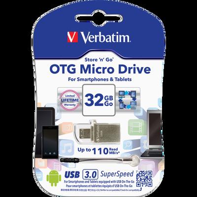 Clé USB VERBATIM 3.0 OTG 32Go