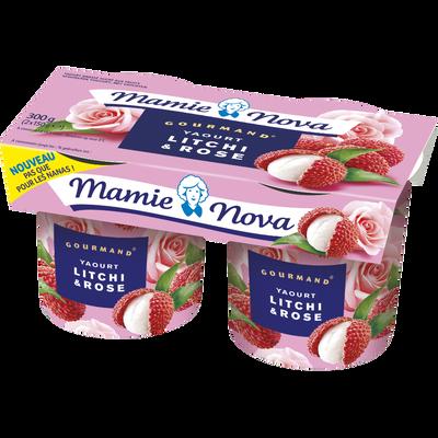 Yaourt gourmand au litchi rose, MAMIE NOVA, 2x150g