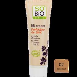 BB cream 5 en 1 bio beige éclat SO'BIO ETIC 02 30ml nu