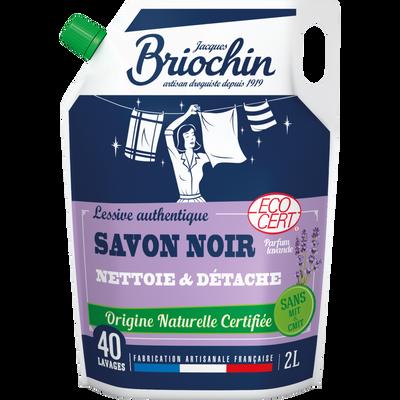 Recharge lessive savon noir parfum lavande Ecocert sans mit cmit BRIOCHIN, 2l