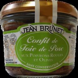 Confit de porc poivrons rouges et olives JEAN BRUNET, 180g