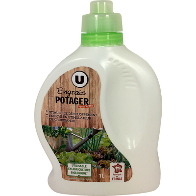 Engrais potager U, 1L, utilisable en agriculture biologique