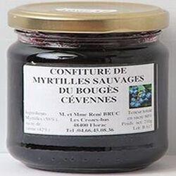 Confiture de myrtilles sauvages du Bouges Cévennes, 210g