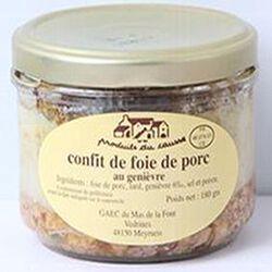 Confit de foie de porc au genièvre, Produits du causse, 180g