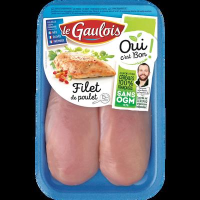 Filet de poulet blanc, OCB LE GAULOIS, France, 2 pièces, barquette, 300g