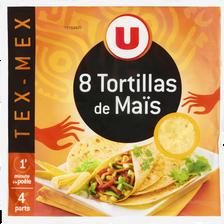 Tortillas souples de maïs U, 8 paquets, 320g