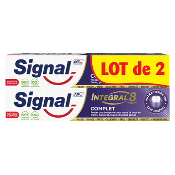 Signal Dentifrice Integral 8 Complet  2x75ml