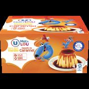 Lou Dessert Lacté Flan Goût Vanille Nappé Caramel U Mat & Lou, 4x100g