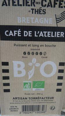 café moulu bio 250 gr atelier des cafés