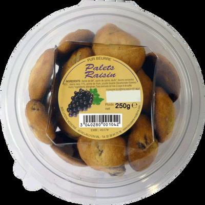 Palets pur beurre raisin, BISCUITERIE MODERNE, 250g