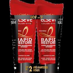 Après-shampooing rapid restor color vive ELSEVE, 2x180ml
