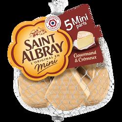 Fromage pasteurisé SAINT ALBRAY, 33% de MG, 5x30g soit 150g