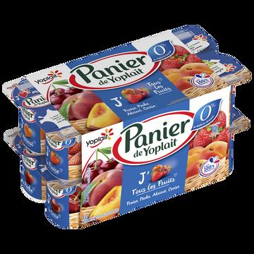 Yoplait Yaourt 0% De Mg Aux Fruits Panier De Yoplait, 16x130g