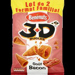 3 D'S bugles bacon BENENUTS, 2x150g