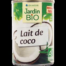 Lait de coco bio JARDIN BIO, boîte de 400ml