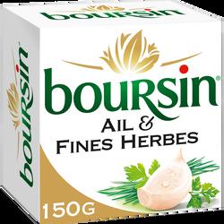 Fromage pasteurisé ail et fines herbes BOURSIN, 39%mg, 150g