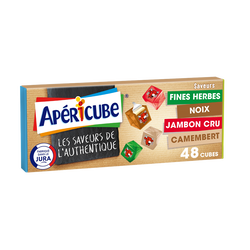 Fromage fondu apéritif APERICUBE Saveurs de l'Authentique 48 cubes, 250g