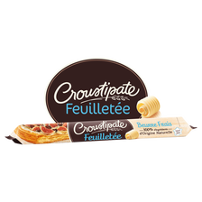 Pâte à tarte feuilletée roulée au beurre frais, CROUSTIPATE, 280g