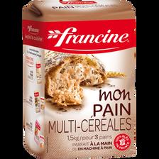 Préparation pour pain multi-céréales, FRANCINE, 1,5kg