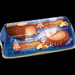 Bûche glacée La Nougatine chocolat noisette miel-nougat éclats de nougat et nougatine NESTLE, 540g
