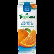 Tropicana Pur Jus D'orange Réfrigéré Sans Pulpe Tropicana Pure Premium, 1l