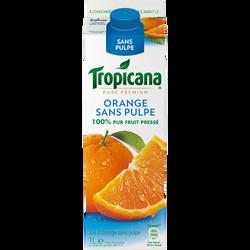 Pur jus d'orange réfrigéré sans pulpe TROPICANA Pure Premium, 1l