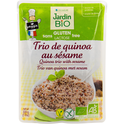 Trio de quinoa au sésame sans gluten JARDIN BIO, 220g