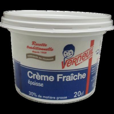 Crème fraîche épaisse 30% de MG, VERNEUIL, 20cl
