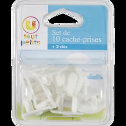CACHE-PRISE + 2 CLÉS U TOUT PETITS  X10