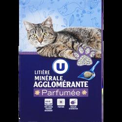 Litière minérale agglo parfumée chat U, boite de 5l