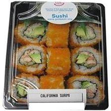 CALIFORNIA SURIMI, 9 pièces de california, sauce soja, gingembre et wasabi.