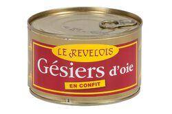 Gésiers d'oie confits LE REVELOIS boite 400g