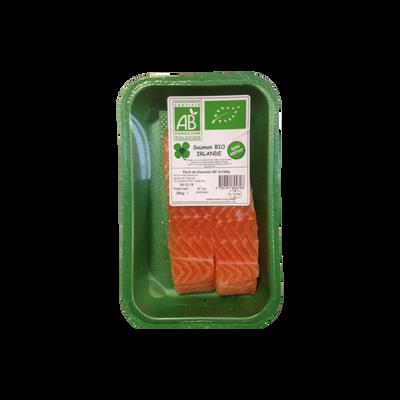 Pavé saumon Atlantique Bio, Salmo salar, élevé en Irlande, 2 pièces, barquette de 280g