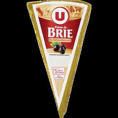 Pointe de Brie au lait pasteurisée, U, 31% de MG, 200g