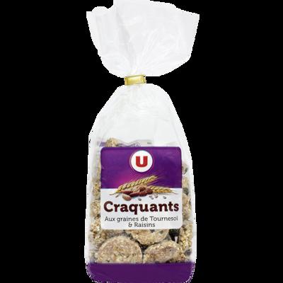 Craquants aux céréales U, paquet de 200g