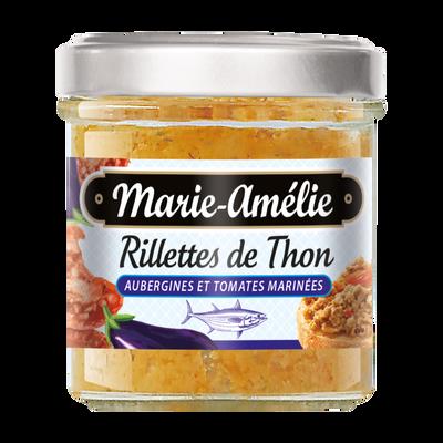 Rillettes de thon aux aubergines et tomates marinées, MARIE AMELIE, 120 g