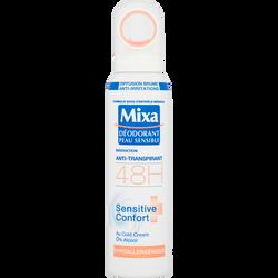 Déodorant pour femme hypoallergénique pour peaux sensibles MIXA, 150ml