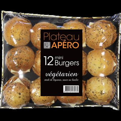 Plateau 12 minis burgers végétariens PASO, 540g