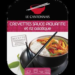 Crevettes sauce piquante et riz parfumé LE CANTONNAIS, 300g