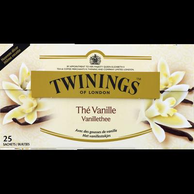 Thé aromatisé vanille TWININGS, 25 sachets, 50g
