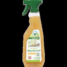 Nettoyant dégraissant parfum orange U NATURE, spray de 750ml