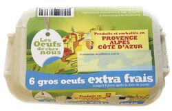Boîte de 6 Œufs EXTRA FRAIS -