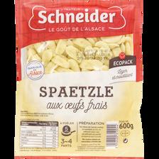 Spaetzle aux oeufs frais Schneider 600g