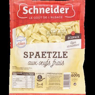 Spaetzle aux oeufs frais SCHNEIDER, barquette de 600g