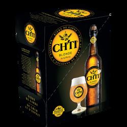 Bière Ch'Ti blonde 6,4°, 5 bouteilles de 75cl +1 offerte